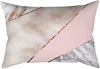 WEUIE Rose Gold Pink Cushion Cover Square Pillowcase for Home Sofa Bedroom Car Decoration (30 X 50cm)