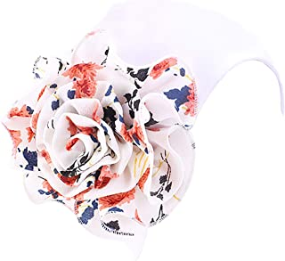 JarseHera Flower Turbans for Women Elastic Hair Wrap Pre-Tied Chemo Cap for Cancer Hair Loss