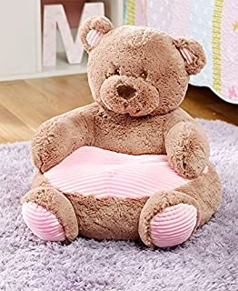 The Lakeside Collection Kids` Plush Animal Chairs - Pink Bear