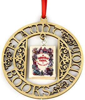 A Christmas Carol Charles Dickens Clay Mini Book Framed Home Wall Decoration Trim Trinket Ornament