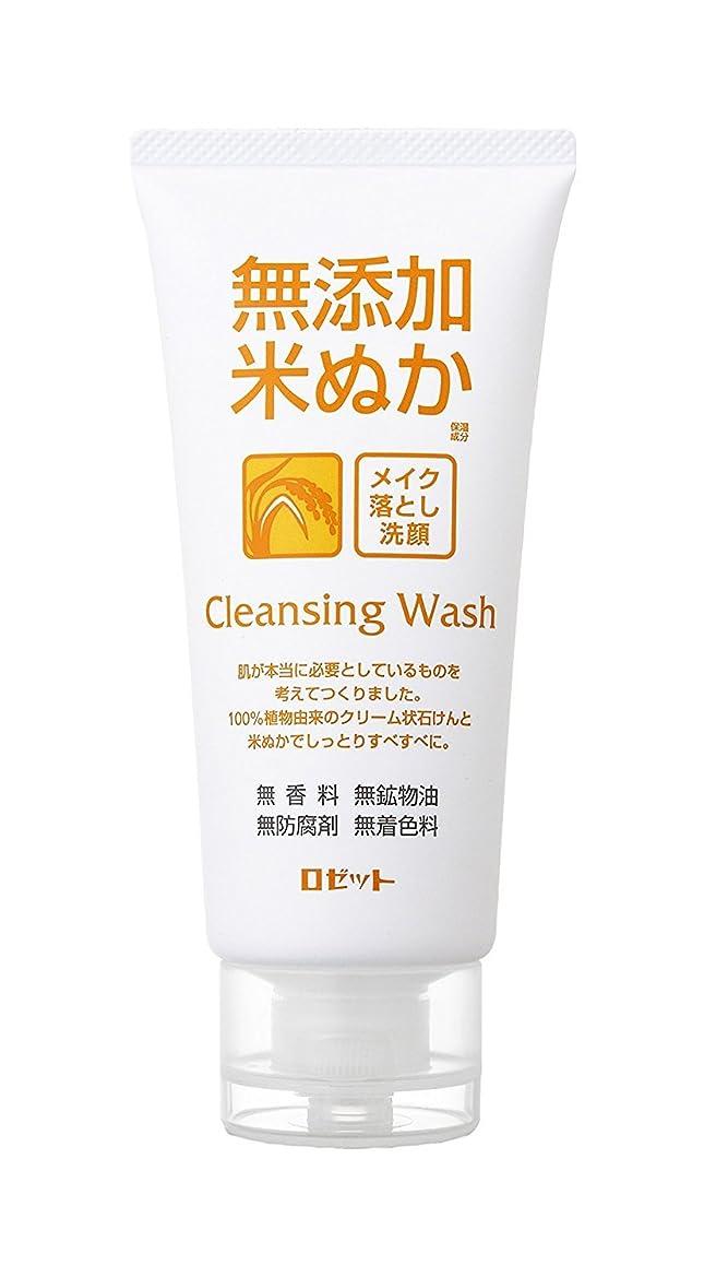 塩辛い技術的な均等に無添加米ぬか メイク落とし洗顔フォーム 120g