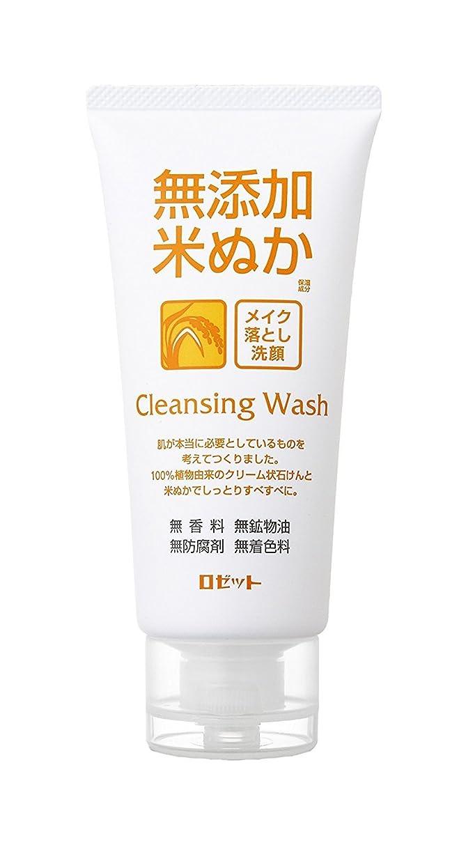 意識防腐剤阻害する無添加米ぬか メイク落とし洗顔フォーム 120g