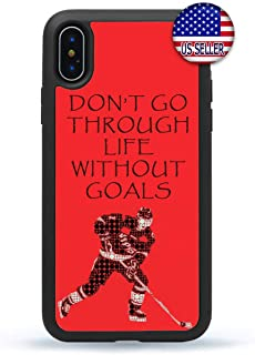 Ice Hockey Player Phone Case Puck Sports Fan Slim Shockproof Hard Rubber Custom Cover for iPhone 11 Pro Max X XS XR 8