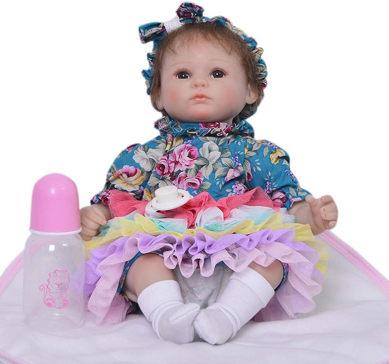 43cm Reborn Babypuppen Lifelike Doll in Gentle Touch Stoff Karosserie Weighted Body Gift Set Kinder Spielzeug Geburtstag Weihnachten Geschenke