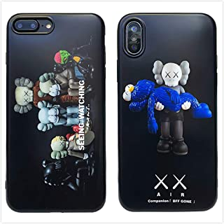 Protective Case for iPhone Street Fashion KAWS Save Sesame Street Doll Companion and Group Meeting Series (Group Meeting, iPhone X/Xs)