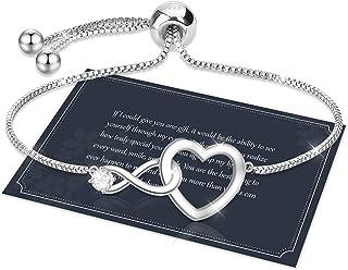 Sponsored Ad – Bracelet for Women,Sterling Silver Tennis Bracelet S925 Crystal Slider Bracelet Adjustable Infinity Bracele...