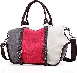 KaiKai KaiKai Weinlese-Frauen Tote Handtaschen-Schulter-Beutel Crossbody-Tasche Reisetasche Große Kapazitäts-Segeltuch Dunkelblau Color : Rose