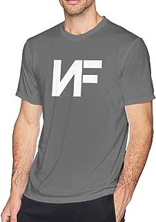 Men's NF Rapper Logo Tshirt Apparel Casual Shirt Short Sleeve Round Neck Cotton Summer Sport T-Shirt Black