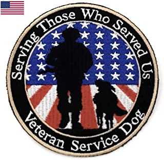 Service Dog Patch for Dogs. Certified Service Dog DO NOT PET Removable Patch for Service Dog Harnesses & Vests. Service Dog Patch for Dogs (Single, Veterans)