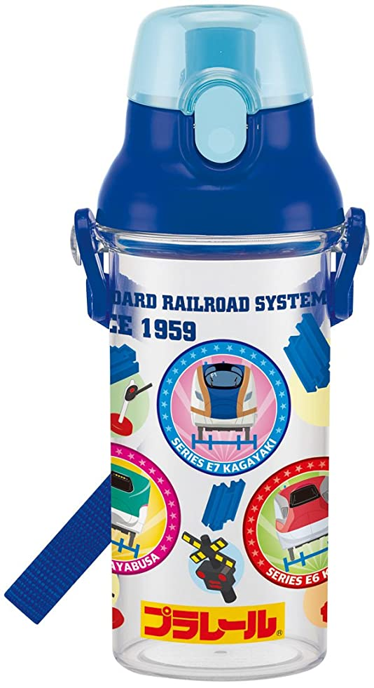 ハイキング感度処方スケーター 子供用 水筒 クリア 480ml プラレール 食洗機対応 日本製 PSB5TR