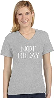 Tstars - Not Today V-Neck Fitted Women T-Shirt