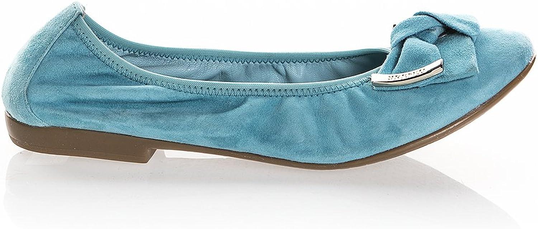 RENZI 6552 Turquoise Suede Italian Designer Flats Summer shoes
