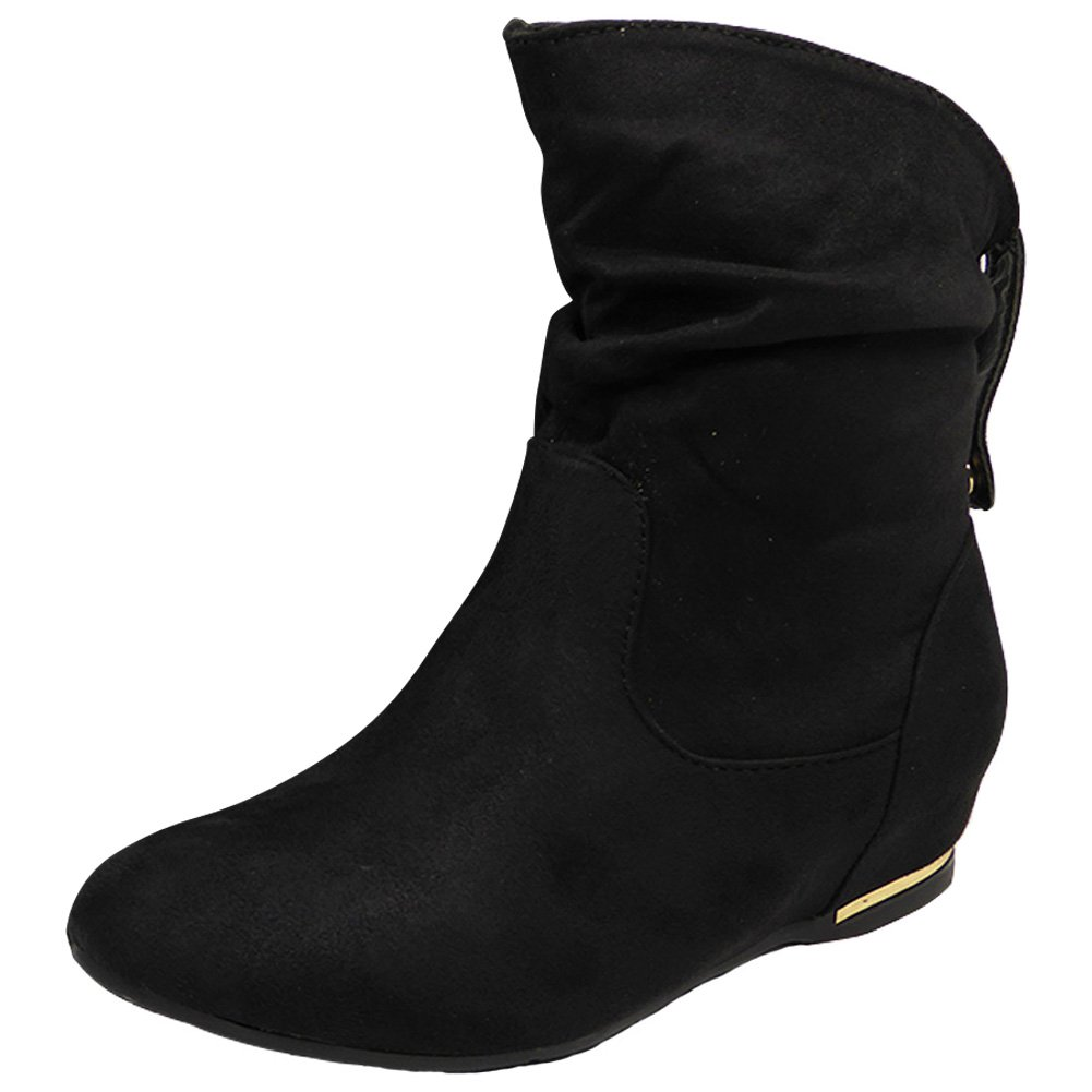 Women Wedge Ankle Boots | Flat Suede
