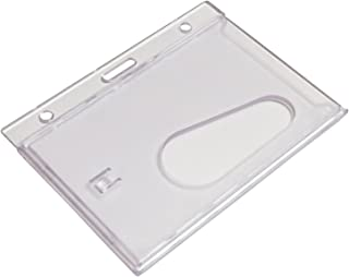 Customcard ltd® Lot de 5 porte-badges Transparent