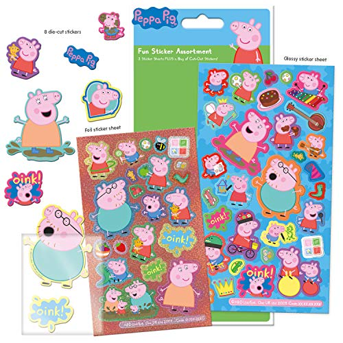 Peppa Pig 01.70.31.001 Sticker-Set, Sortiert