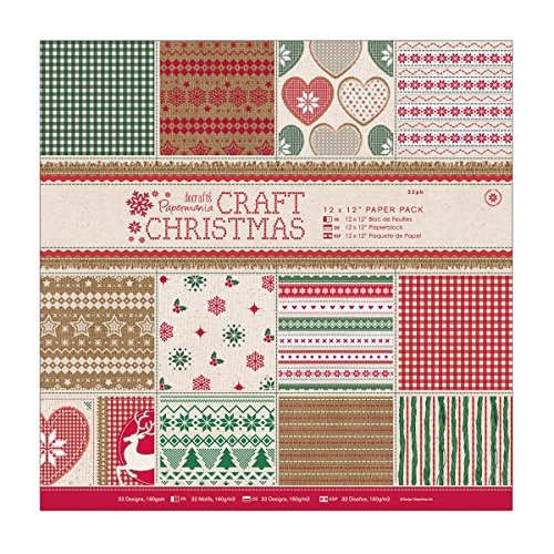 """DoCrafts 12 x 12"""" Paper Pack (32pk) - Craft Christmas"""