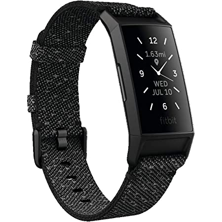 Fitbit Charge4 Special Edition GPS搭載フィットネストラッカー Black/Charcoal Woven L/Sサイズ [日本正規品] FB417BKGY-FRCJK