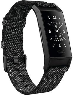Fitbit Charge4 Special Edition GPS搭載フィットネストラッカー Black/Charcoal Woven L/Sサイズ [日本正規品] FB417BKGY-FRCJK