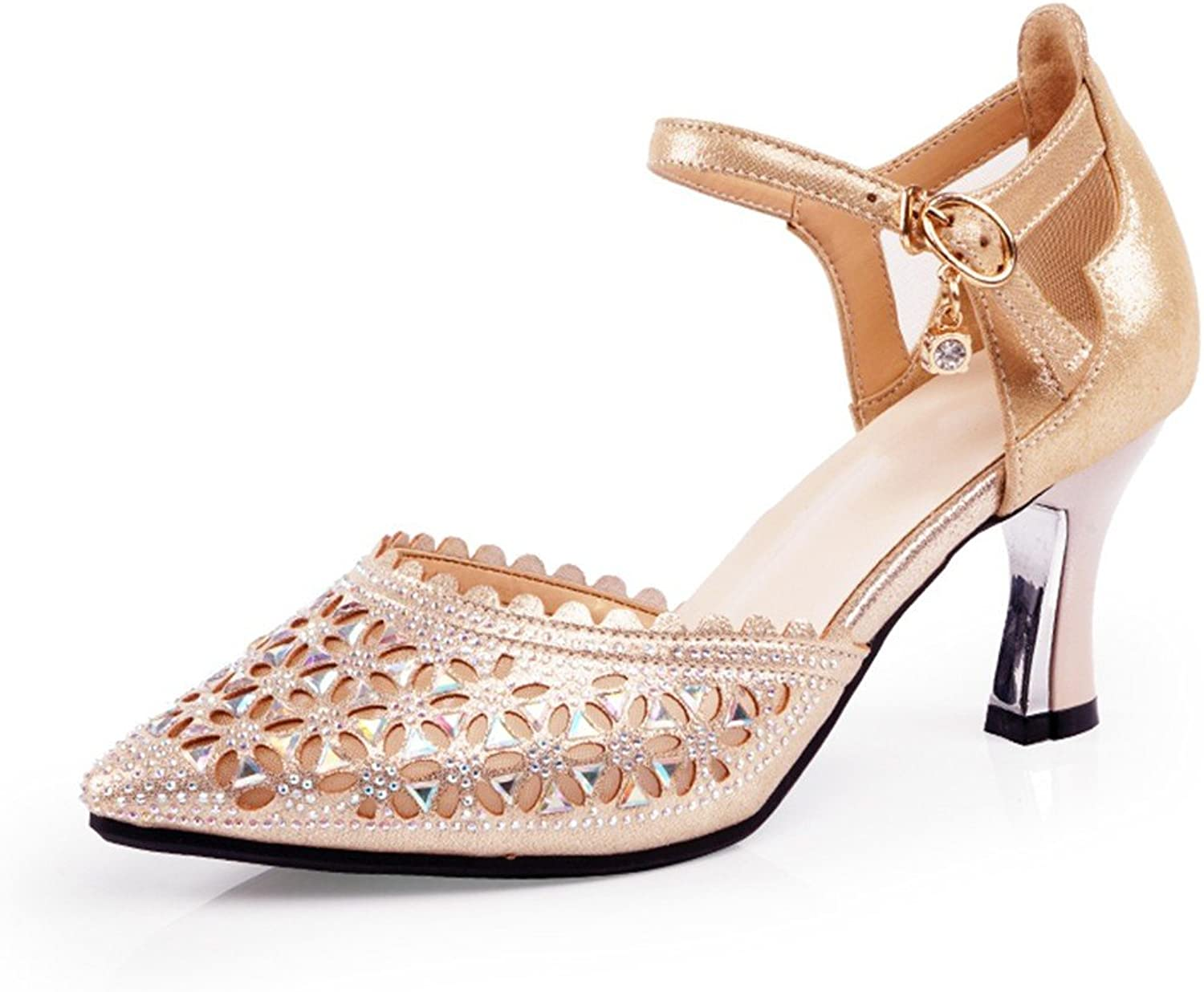 WXMDDN Women's Latin Dance shoes gold Dance shoes in Adults with high-Heeled Dance shoes