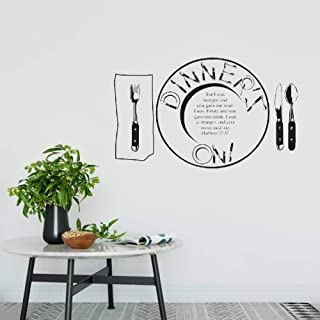 Wall Stickers Decal Removable Vinyl Decal Quote Art for I was Hungry and You Gave Me Food Bible Verse