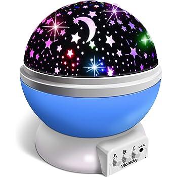 Moredig Proyector Estrellas, 360° Rotación Romántica Luz Estrellas ...