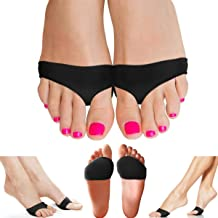 Copper Compression Metatarsal Pads for Women Men Guaranteed Highest Copper Foot Pads Ball of Feet Gel Ball of Foot Cushions Mortons Neuroma Sesamoiditis Metatarsul Incapsulitus Callus (Small/Medium)