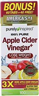 Purely Inspired Apple Cider Vinegar - 100 Easy to Swallow Veggie Tablets