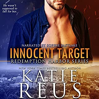 Innocent Target     Redemption Harbor Series, Book 4              By:                                                                                                                                 Katie Reus                               Narrated by:                                                                                                                                 Sophie Eastlake                      Length: 4 hrs and 45 mins     95 ratings     Overall 4.6