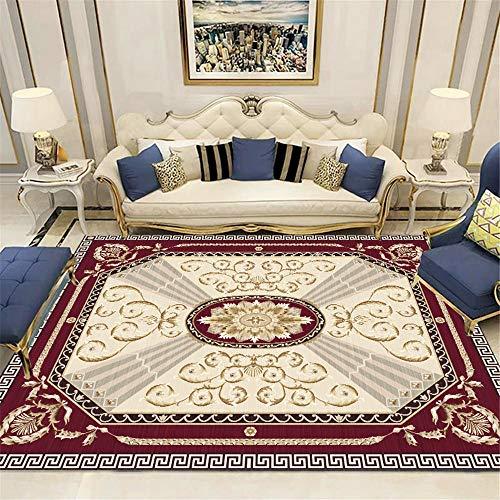 ZHAOPAI tapijt/yoga ruglarge rugWear-resistente harige stijlvolle tapijten slaapkamer rechthoek Zacht mechanisme tapijt, rode wijn