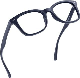 LifeArt Blue Light Blocking Glasses, Anti Eyestrain, Computer Reading/Gaming/TV Glasses for Women Men, Anti UV, Anti Glare (Navy, 1.00 Magnification)
