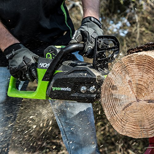 Greenworks 40V 14 In. Brushless Cordless Chainsaw, 2Ah Battery Included CS40L210