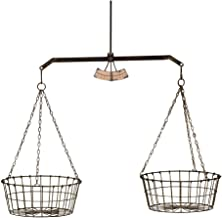 Col House Designs Vintage Hanging Scale with Two Wire Baskets for Farmhouse Decor