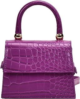 Mini coccodrillo PU pelle Flap spalla Messenger Top Handle Crossbody borsa in pelle per le donne borse Messenger borse, Vi...