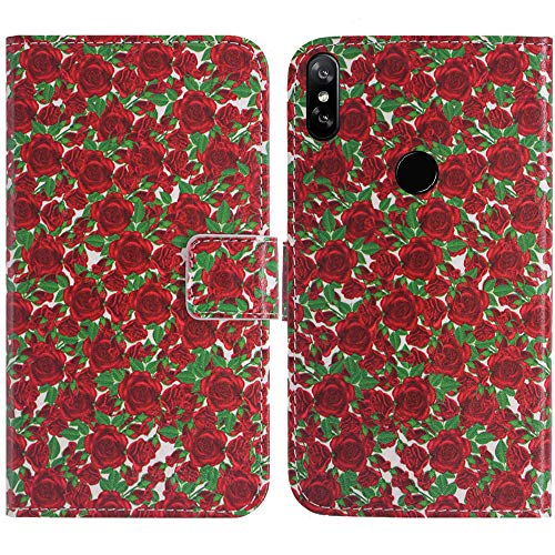 TienJueShi Rose Blume Flip Stand Brief Leder Tasche Schütz Hülle Handy Hülle Für Archos Oxygen 68XL 6.85 inch Abdeckung Fall Wallet Cover Etüi