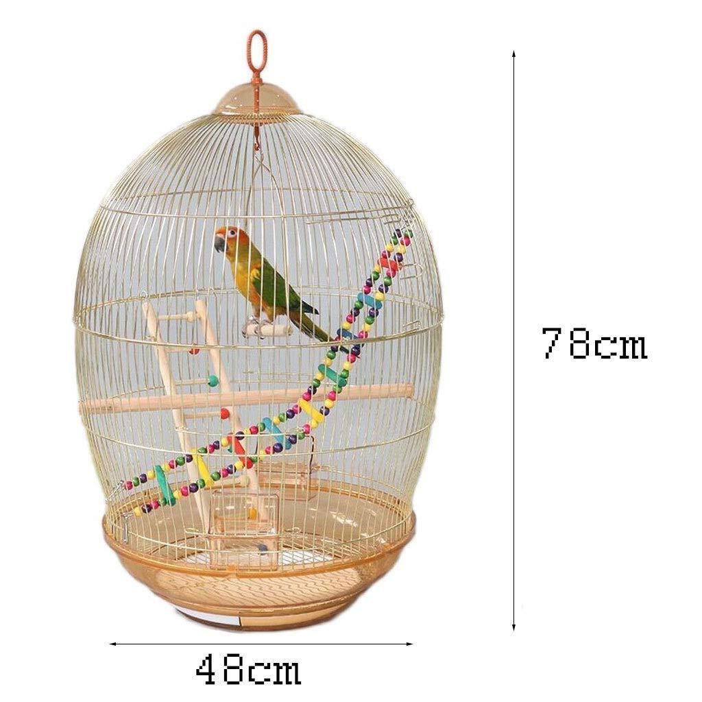 MUMUCW Jaula de pájaros Grande for periquitos Agapornis Pinzones Cacatúas Conures Canario Tall Metal Jaula de Loros pequeños Periquitos Sun Quaker Green Cheek Travel Bird Cage: Amazon.es: Hogar