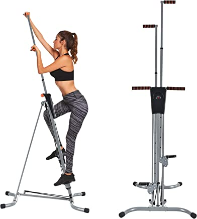 Murtisol Vertical Climber Fitness Climbing Cardio Machine with LCD Monitor,Natural Climbing Exercise for Home Body Trainer