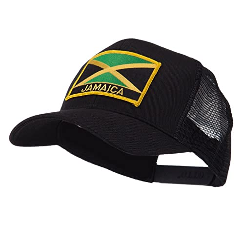 e2575c1c701 North and South America Flag Letter Patched Mesh Cap - Jamaica W42S52F