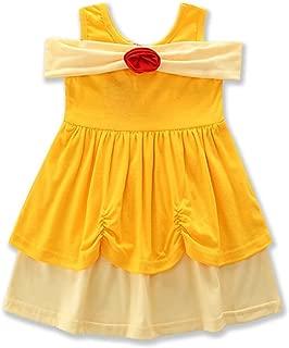 IBTOM CASTLE Little Girl Princess Costume Cosplay Casual Dress Cartoon Fancy Birthday Party Tutu Dress up Gown
