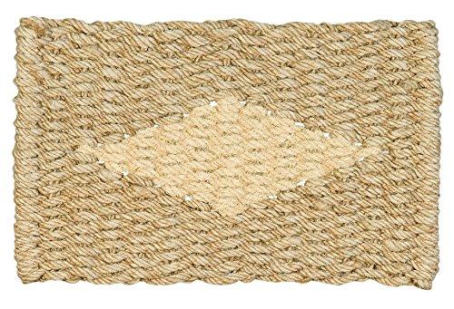 Jute & Co. Felpudo de Cuerda de Yute y decoro de Coco, 45x 75cm, Beige