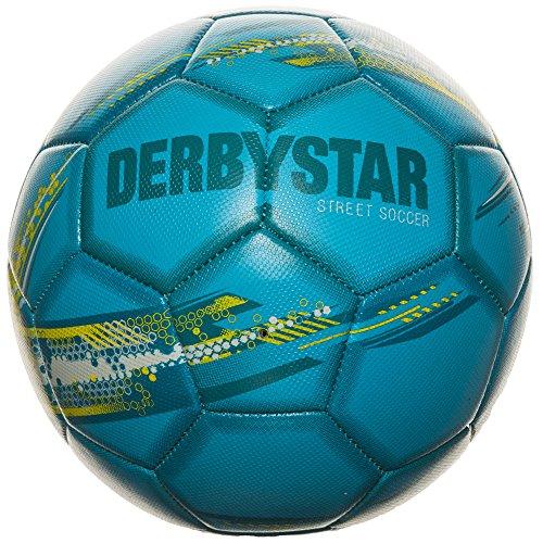 Derbystar Street Soccer Trainingsball Fußball Ball, Blau/Grün, One Size