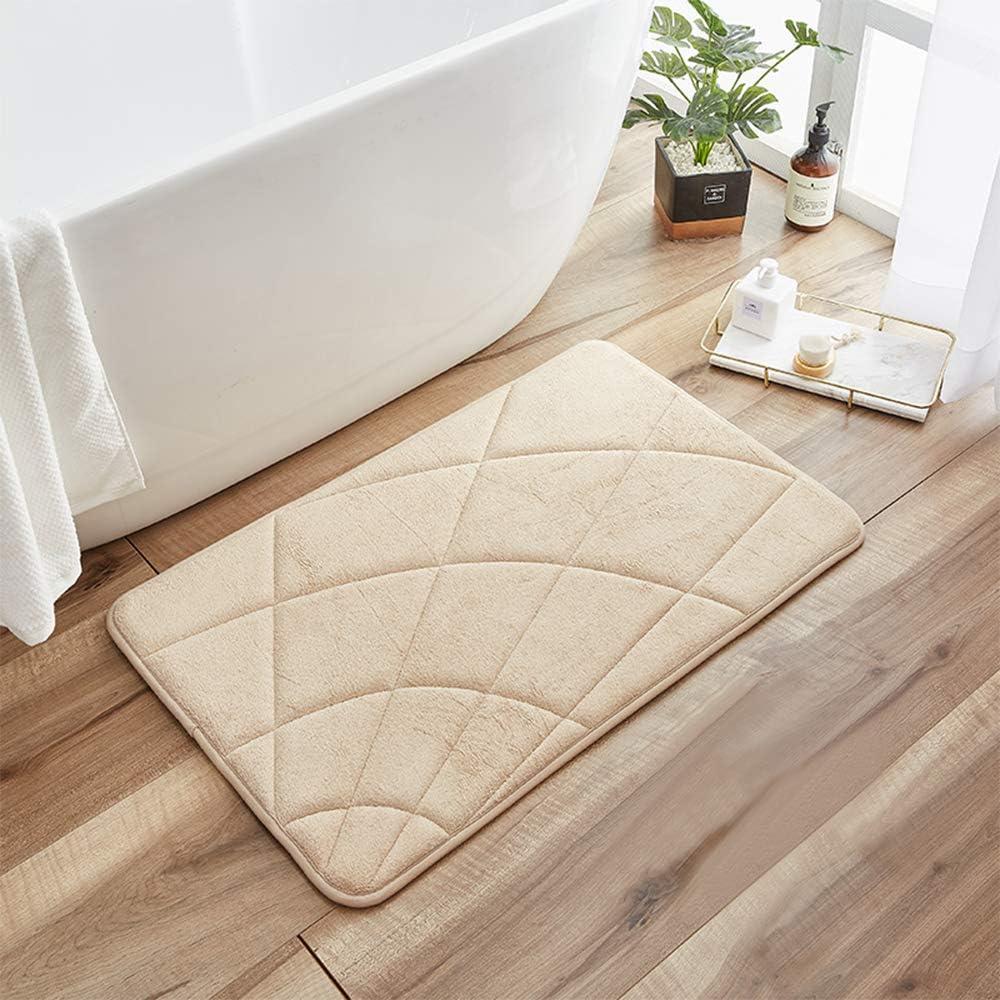 DECORUS Memory Foam Bath Mat Soft and Comfortable for Bathroom Floor Carpet Water Absorbent Bath Mat Not Slip Bath Rugs Cozy Machine Washable Premium Floor Rug
