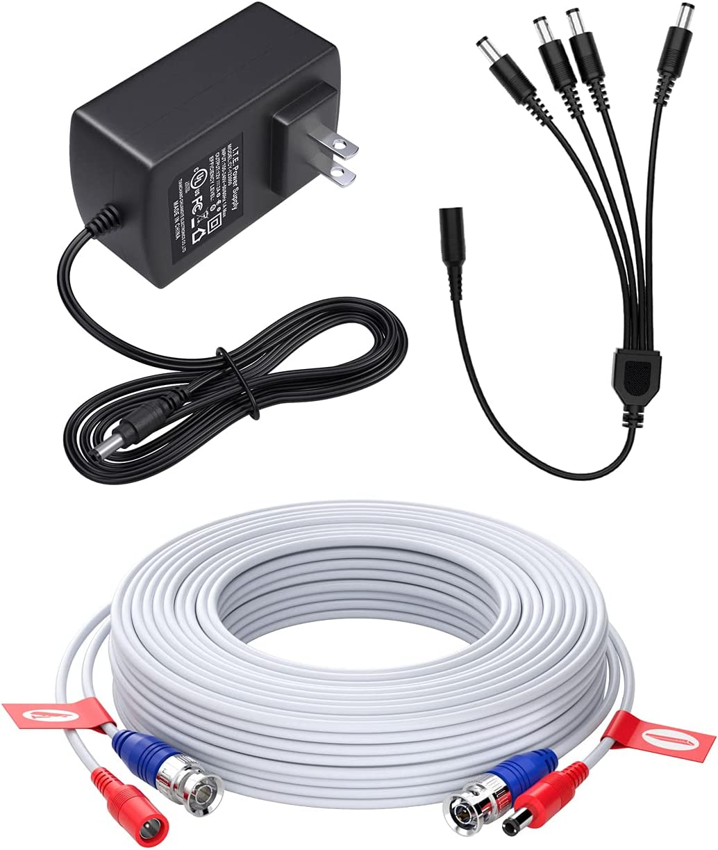 New mail order ZOSI DC 2A Power Adapter with 1 to Pa Splitter 4 + Max 85% OFF Cable