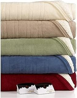 Biddeford 2063-9052140-702 MicroPlush Sherpa Electric Heated Blanket Queen Cream