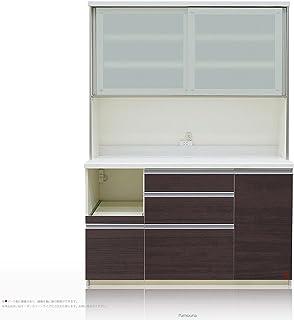 [高さ198cm] Pamouna(パモウナ) LFシリーズ LF-1400R 食器棚 [引き戸] (幅140cm, 奥行き50cm, カカオチェリー)