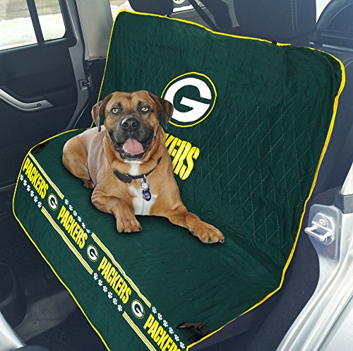 NFL CAR SEAT COVER - GREEN BAY PACKERS Waterproof, Non-slip BEST Football LICENSED PET SEAT cover for DOGS & CATS.