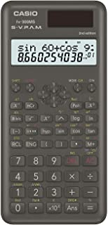 "Casio FX300MSPLUS2 Scientific 2nd Edition Calculator, with New Sleek Design, Black, 0.4"" x 3"" x 6.4"""