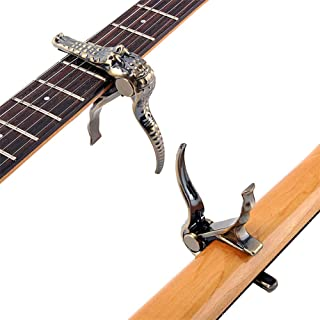 AKDSteel Crocodile Clamp Guitar Capo Quick Change Clip Key Acoustic Classic Guitar Capo for Tone Adjustment