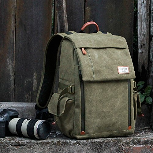 Camera Backpack Zecti Waterproof Canvas Professional Camera Bag for Laptop and Other...