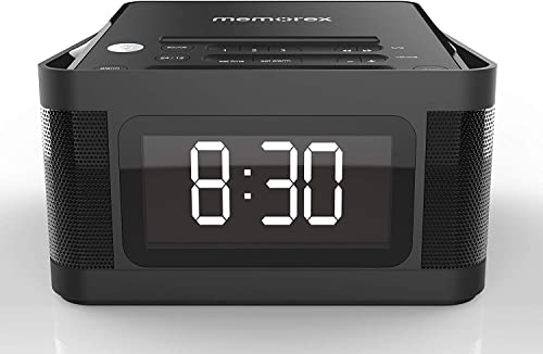 wholesale Memorex MC8431 2 discount USB Charging popular Alarm Clock Radio with 1.2 Inch LCD Display, FM Radio and More, Black sale