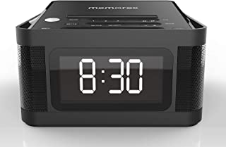 Memorex MC8431 2 USB Charging Alarm Clock Radio with 1.2 Inch LCD Display, FM Radio and More, Black